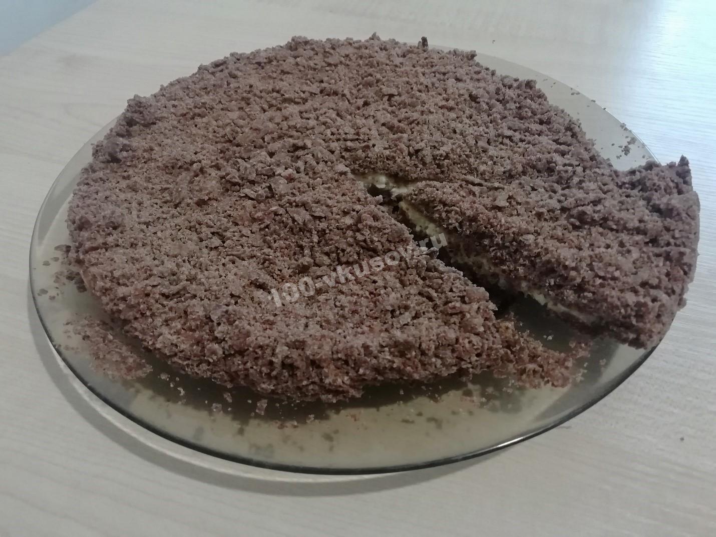 Песочно творожный пирог