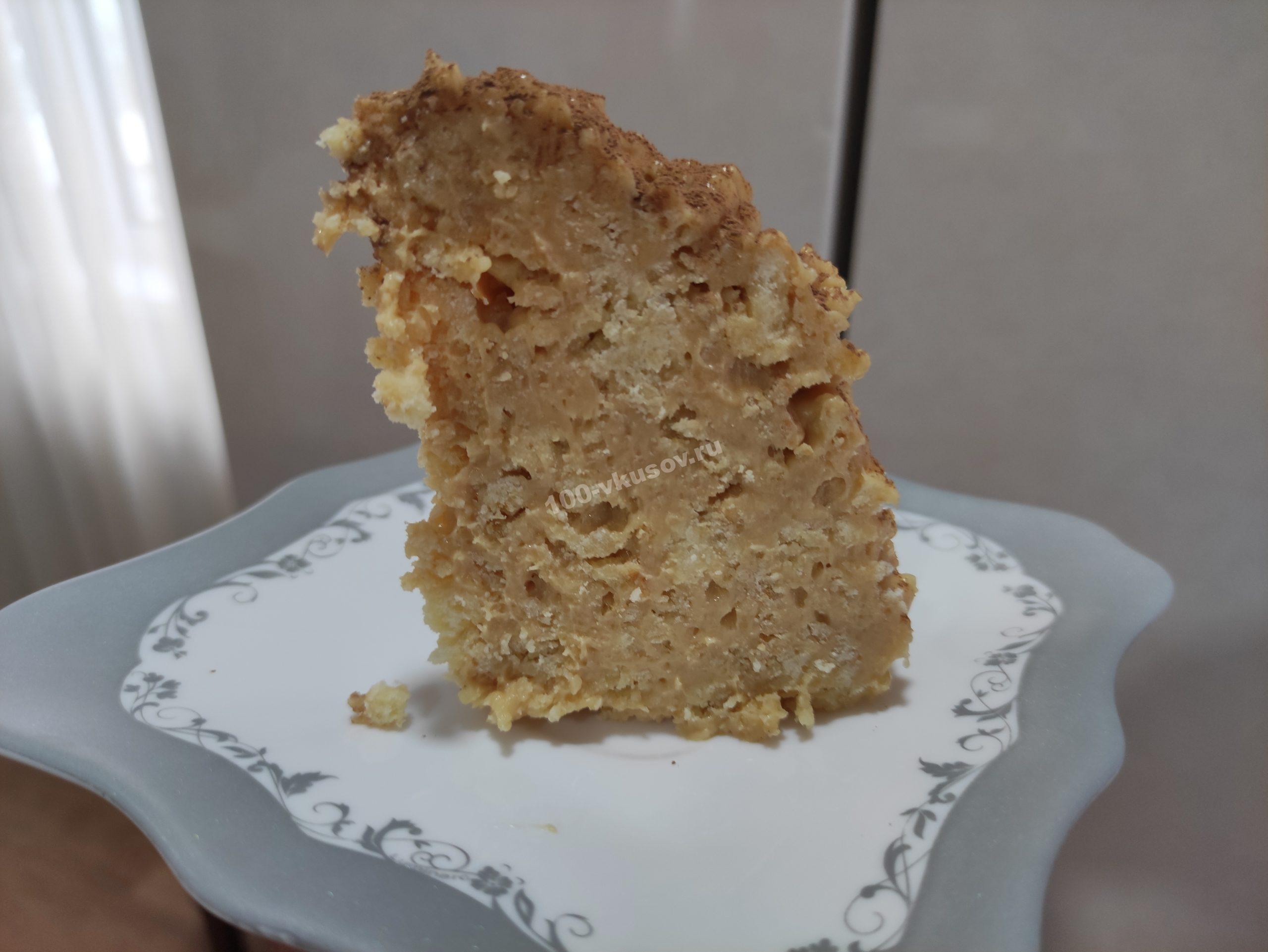 Готовый торт в разрезе