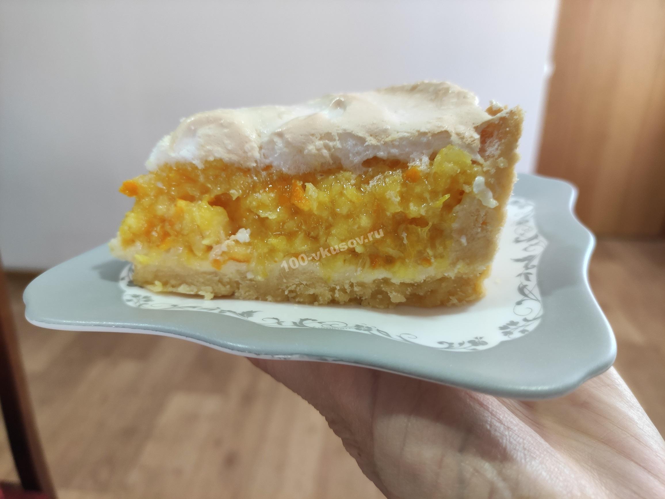 Апельсиновый пирог в разрезе