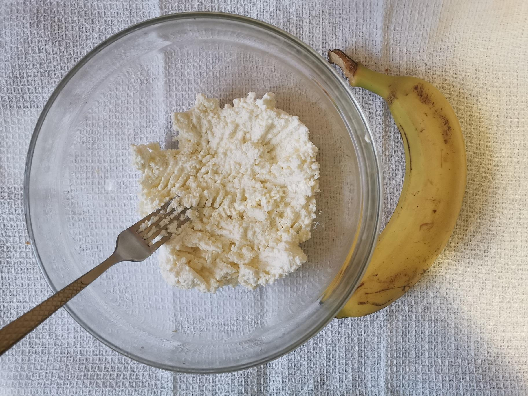 Творог и банан