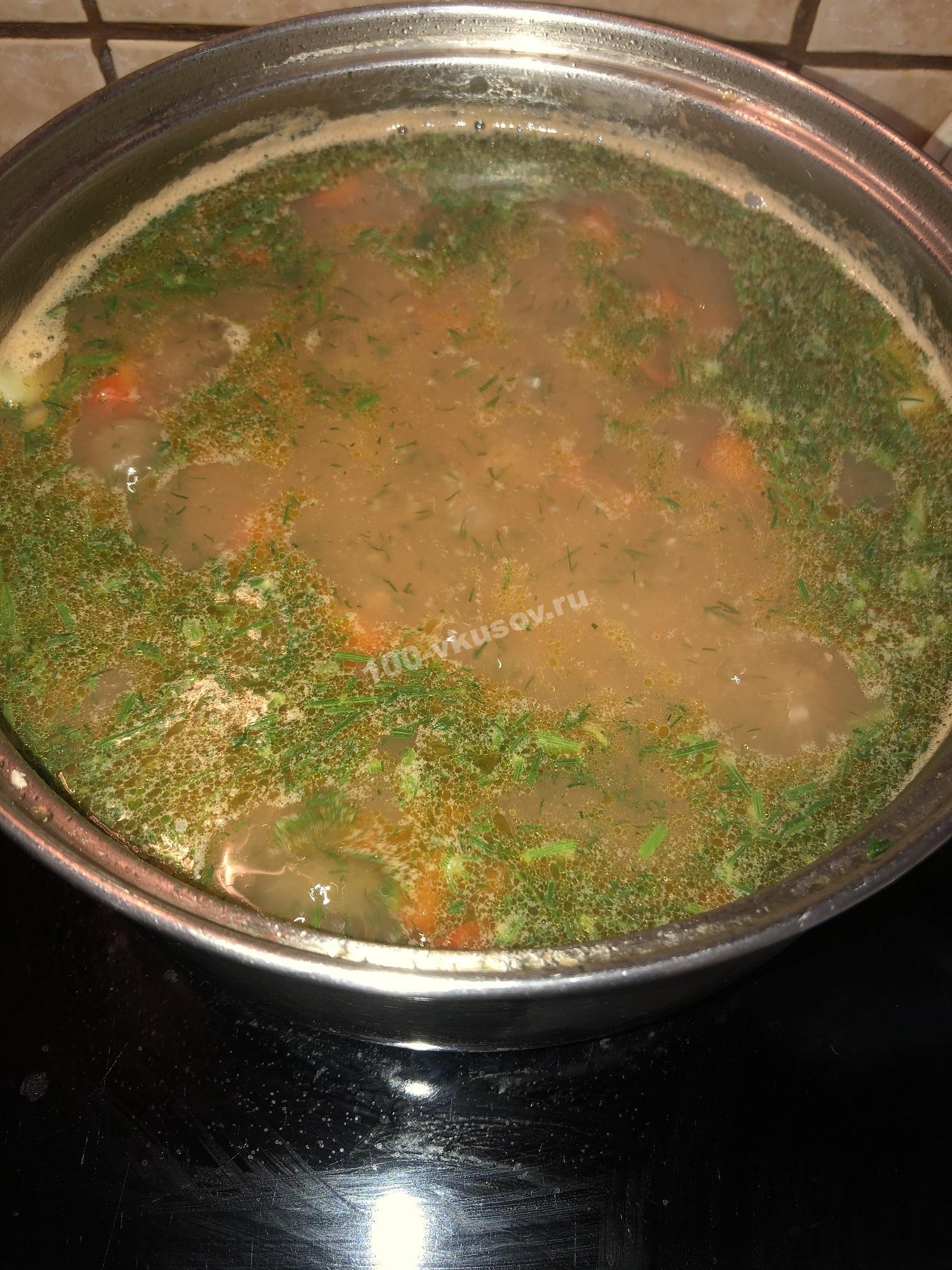 Готовый фасолевый суп