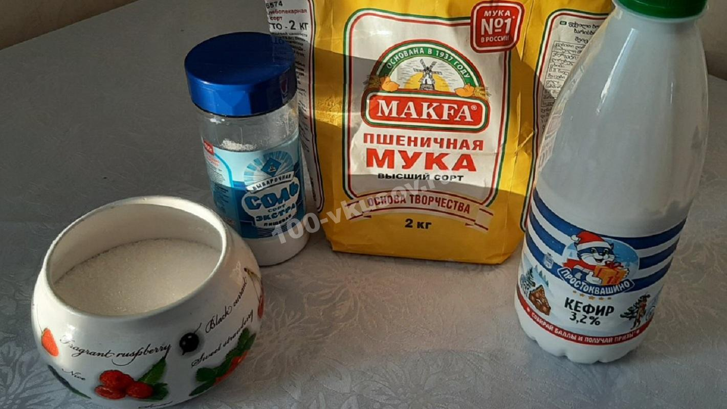 Ингредиенты для бездрожжевого хлеба