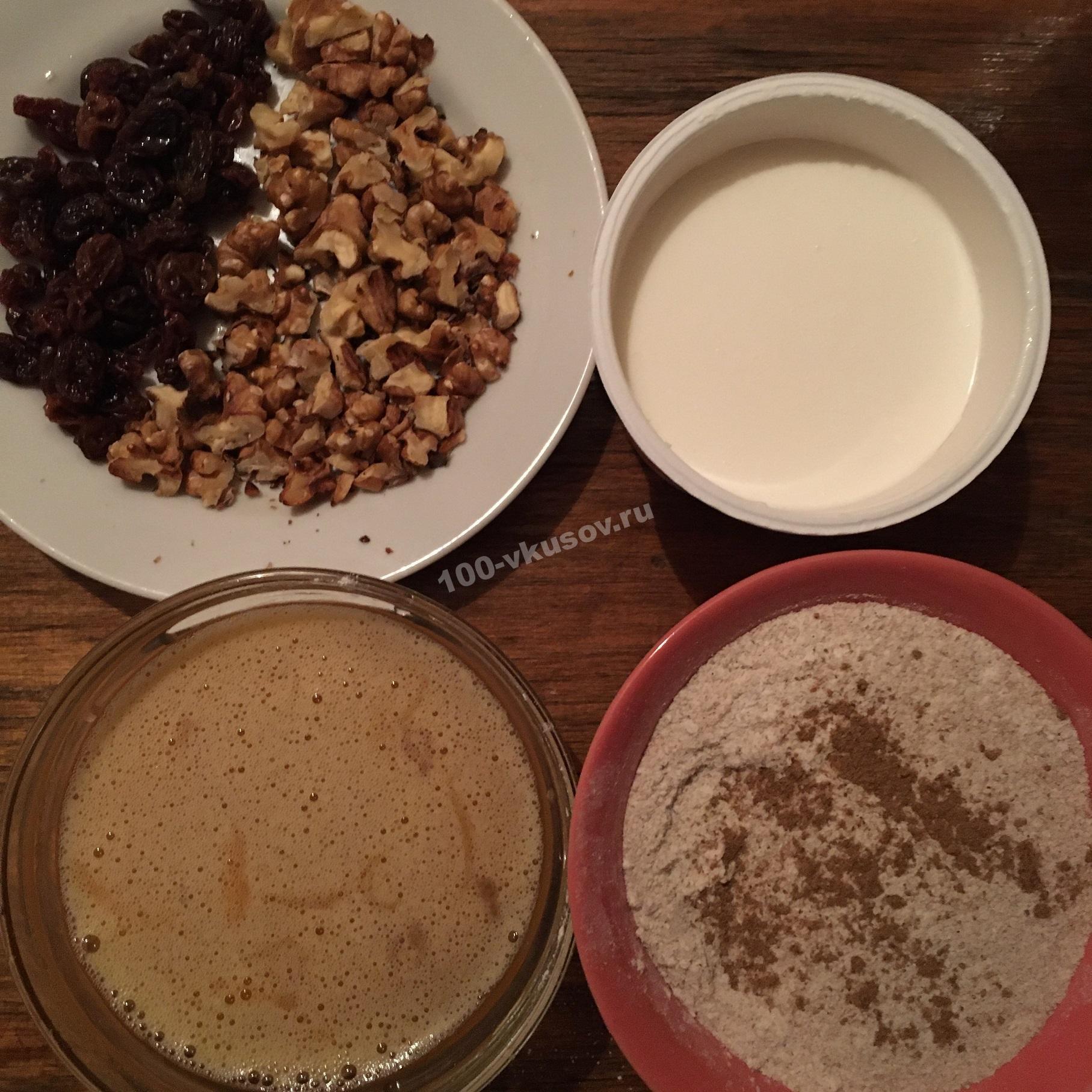 Ингредиенты для теста на шарлотку