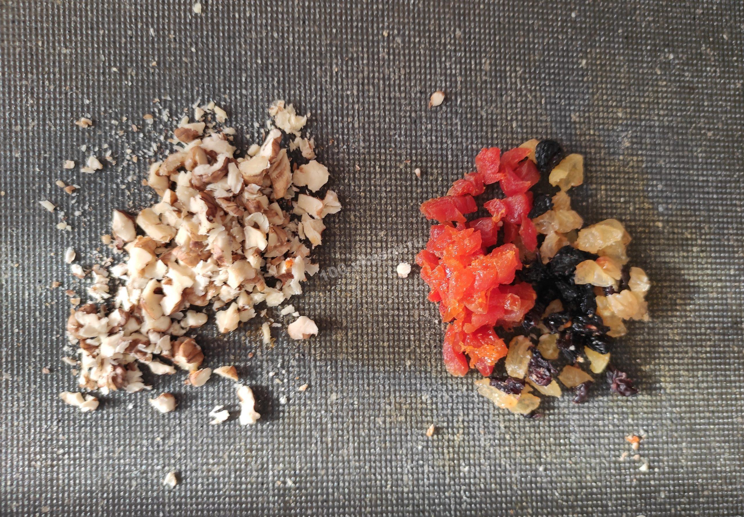 Измельчённые орехи и сухофрукты