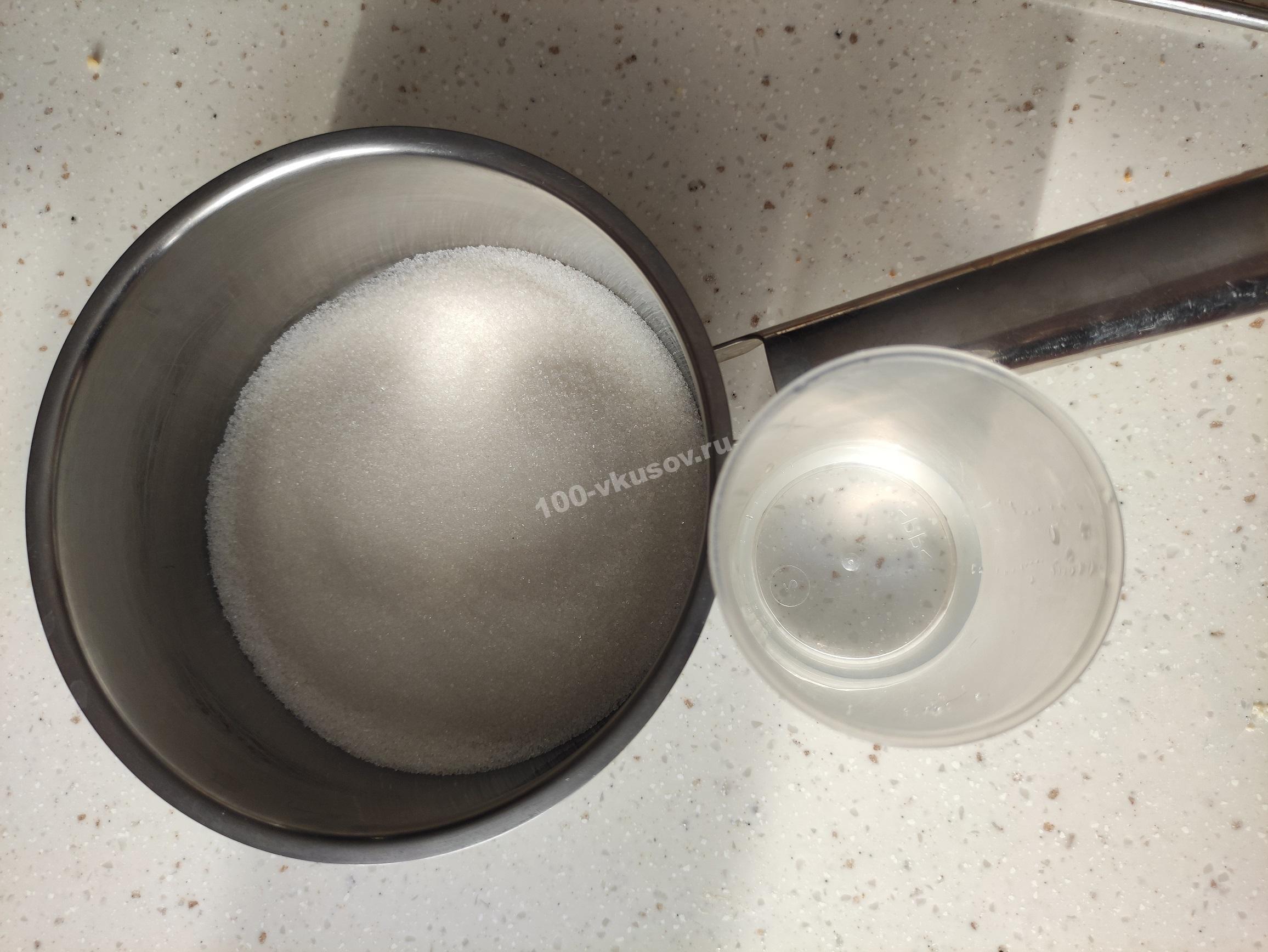 Ингредиенты для карамели