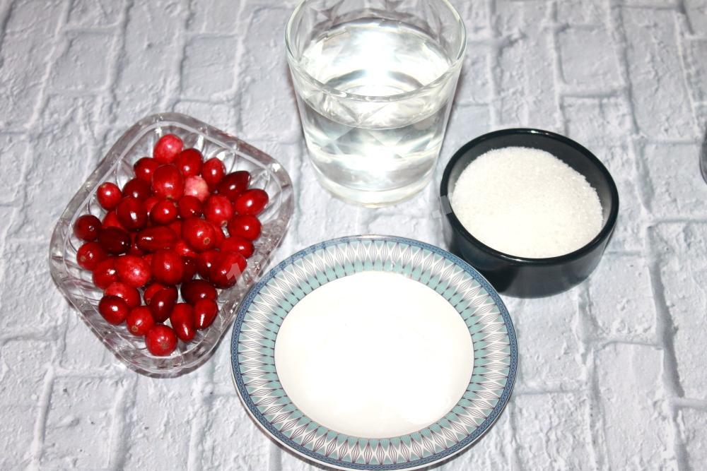 Ингредиенты для клюквенного киселя