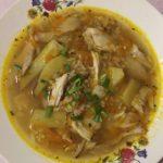 Куриный суп с рисом и картофелем