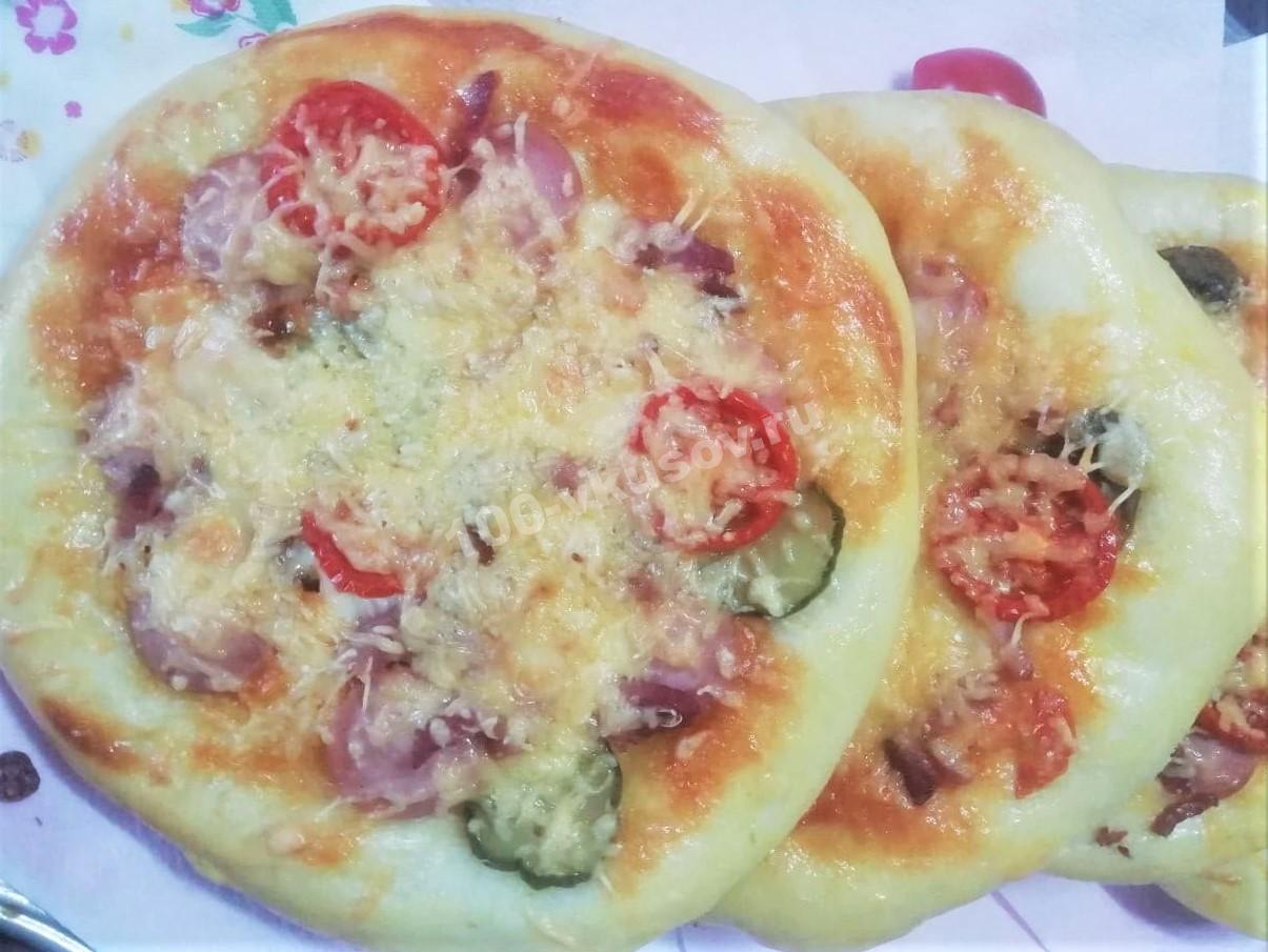 Готовая школьная пицца