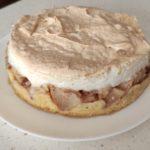 Яблочный пирог с безе из песочного теста