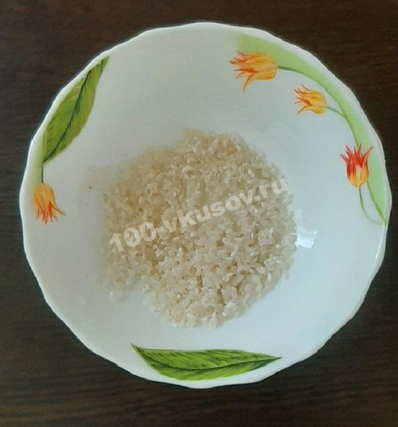 Промываем рис для каши