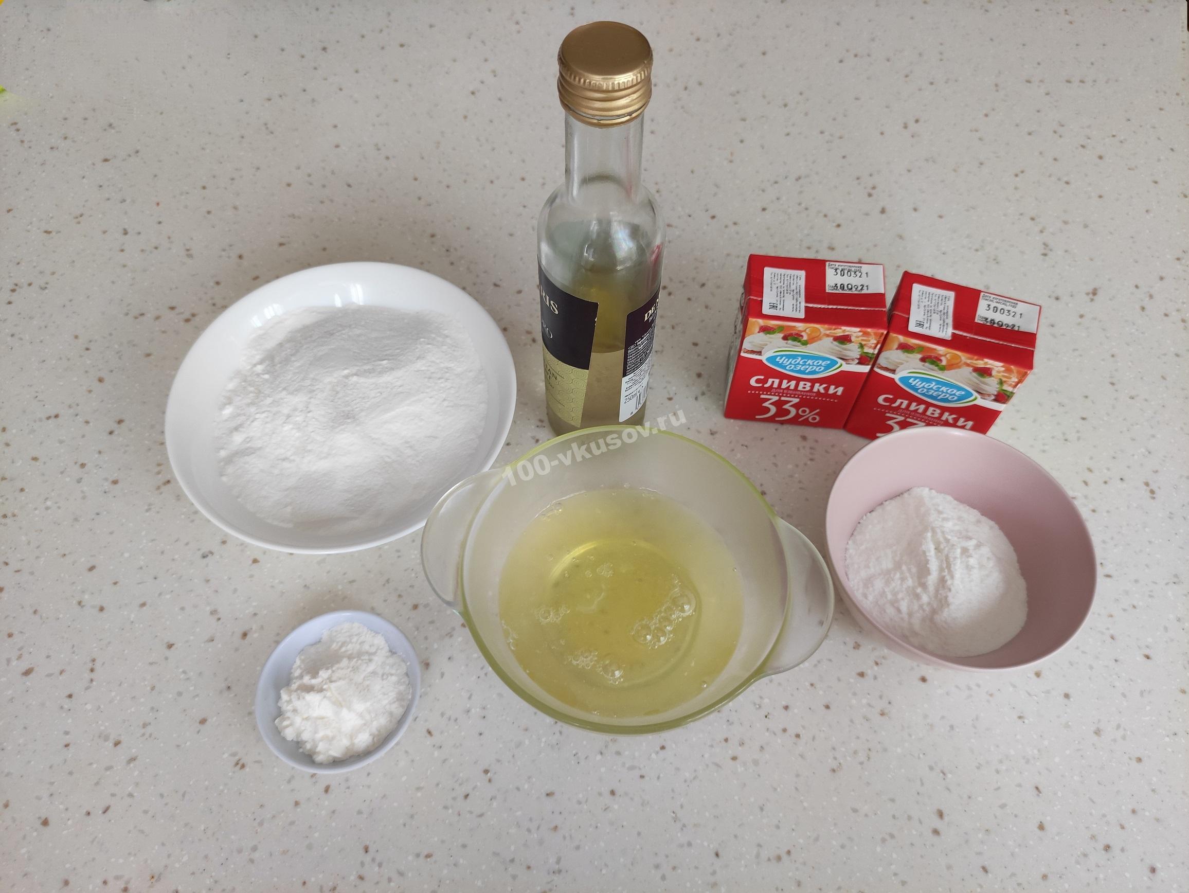 Ингредиенты для торта Анна Павлова