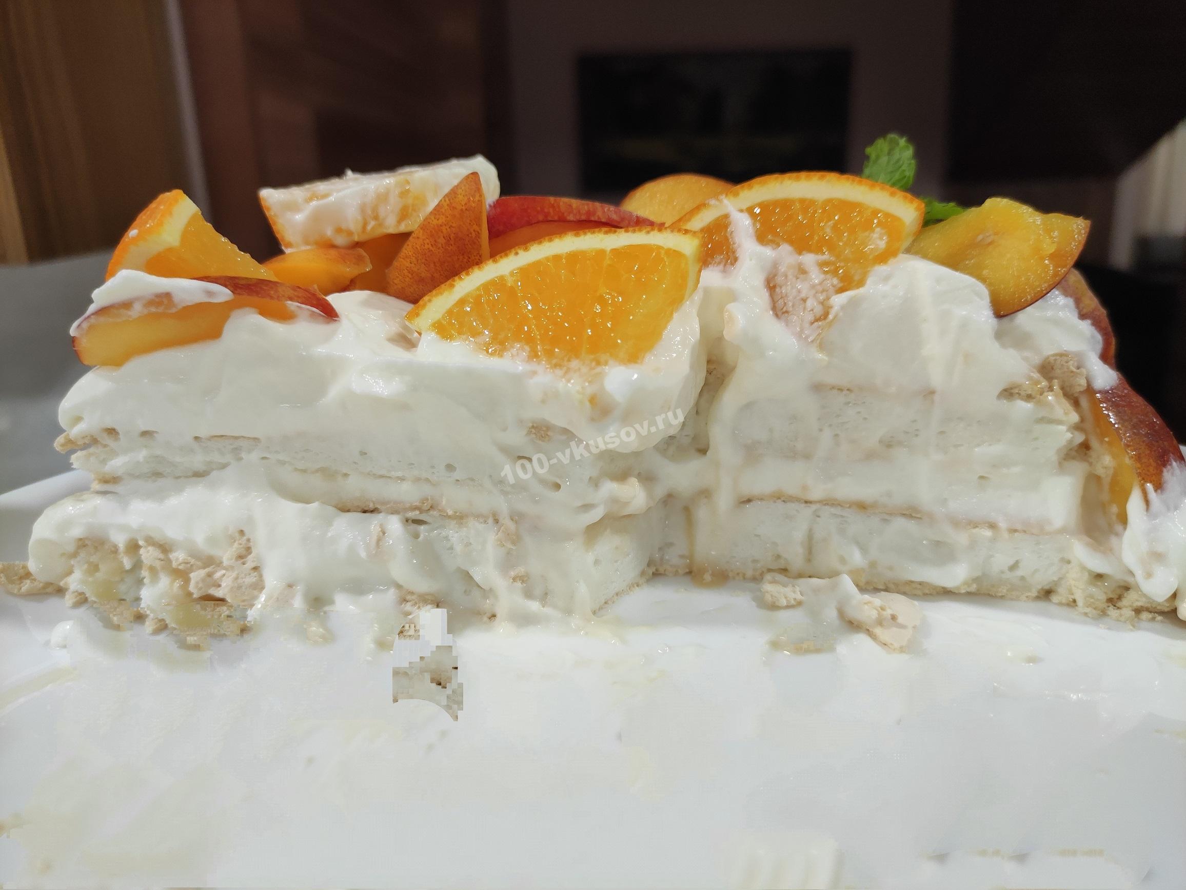 Торт Анна Павлова в разрезе