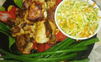 Голень куриная на сковороде