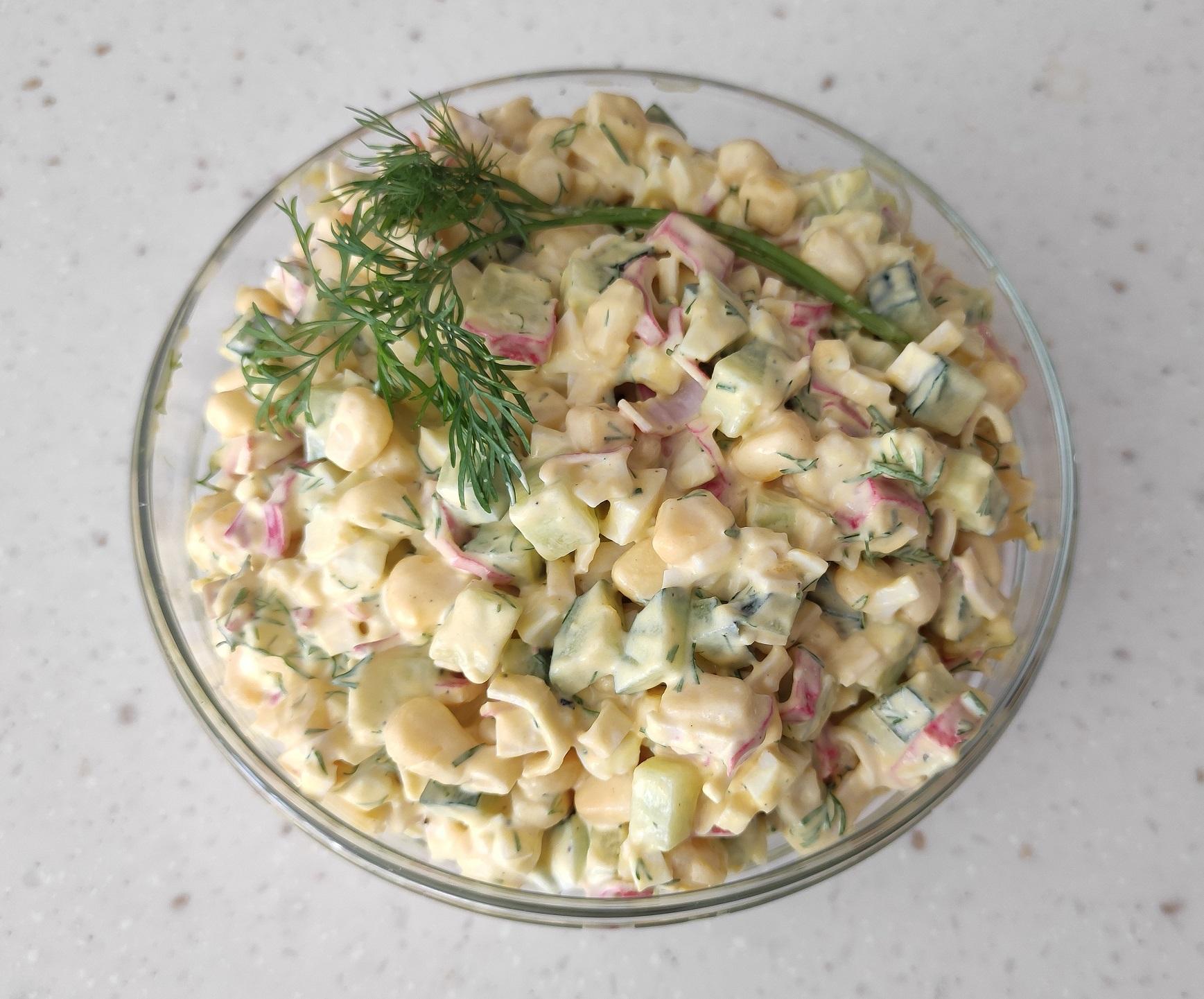 Салат крабовый с кукурузой без риса