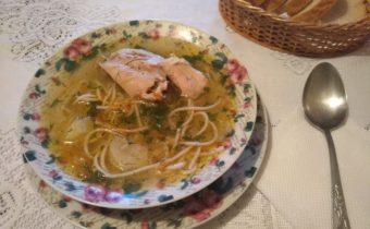 Суп куриный с вермишелью и картофелем