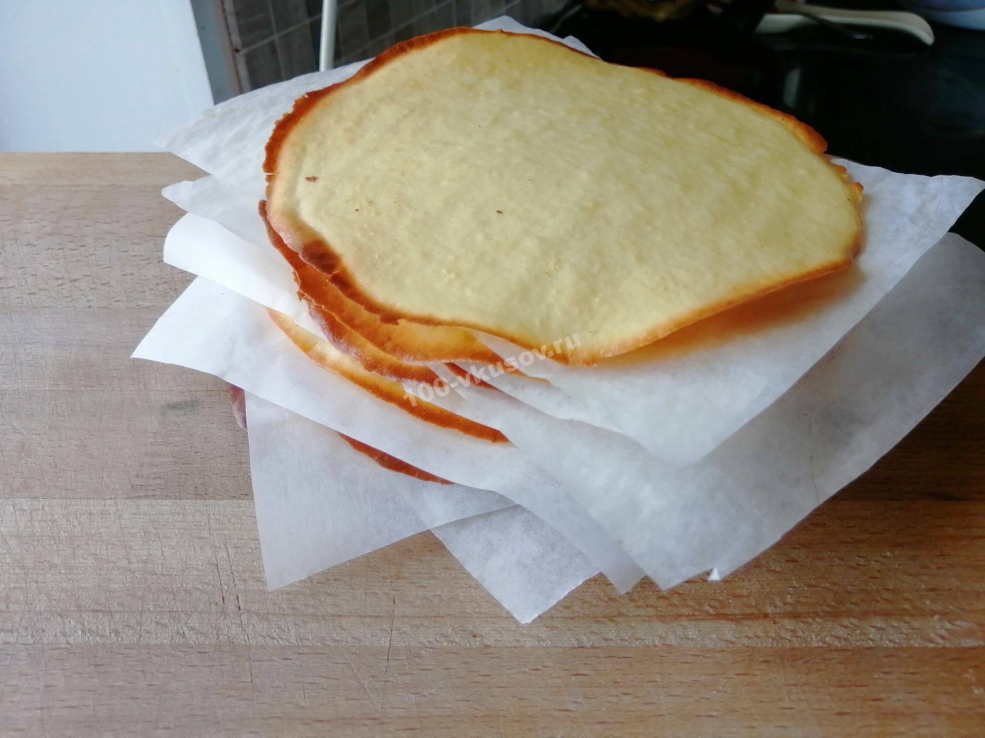 Готовые коржи для торта Молочная девочка