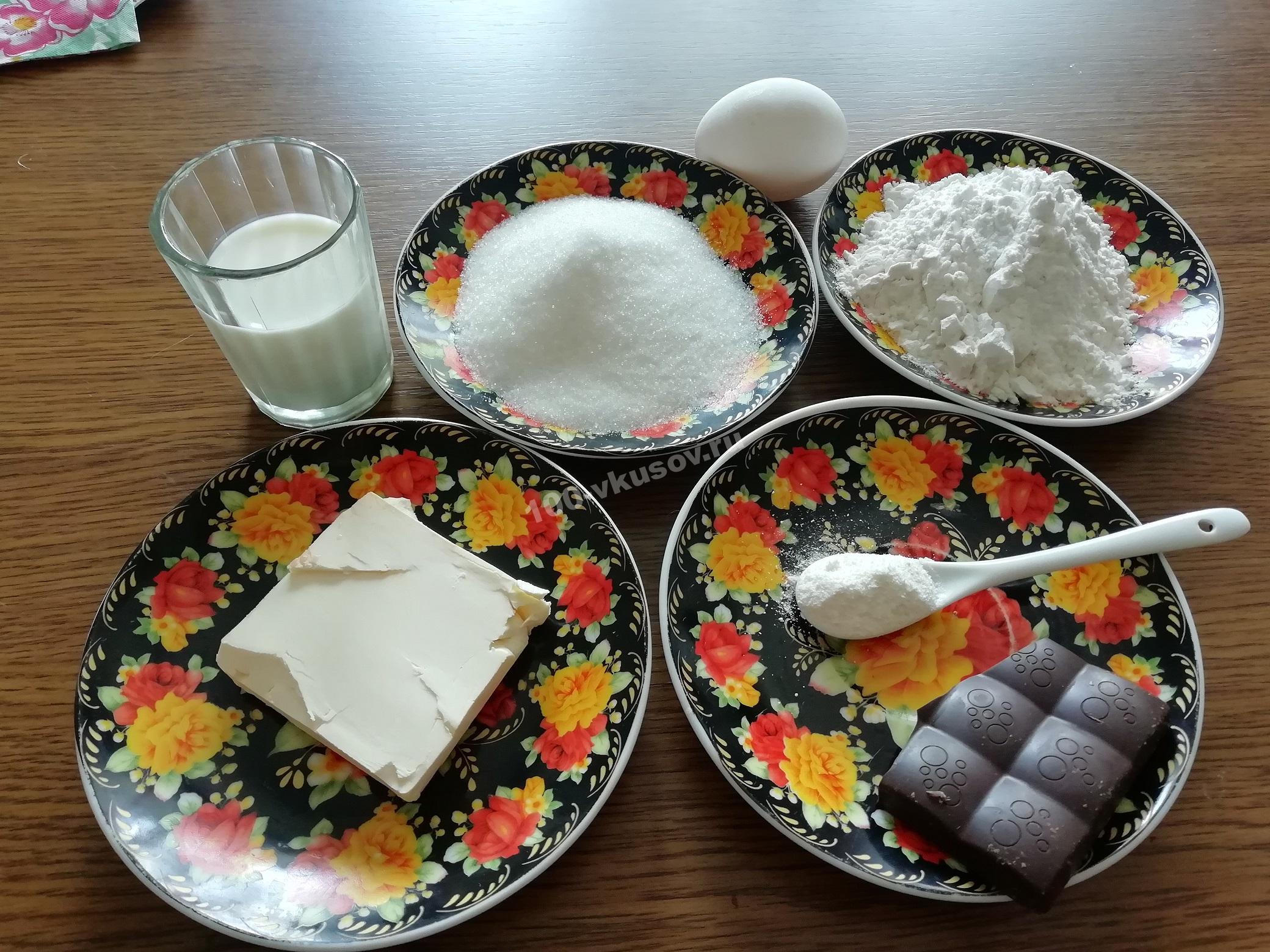 Продукты для кекса в чашке