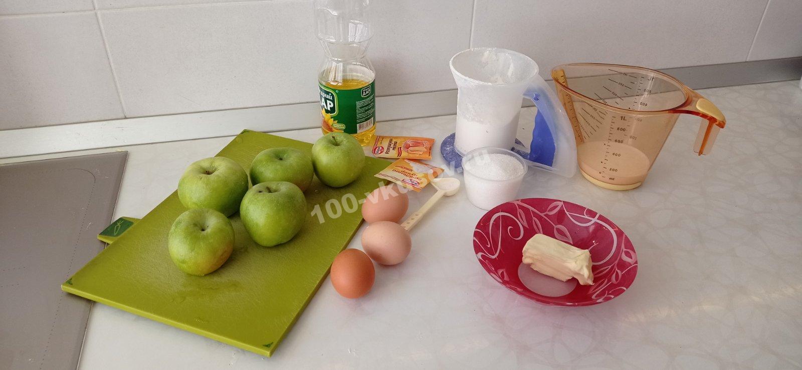 Продукты для шарлотки на молоке