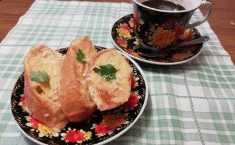 Хлеб жареный в яйце