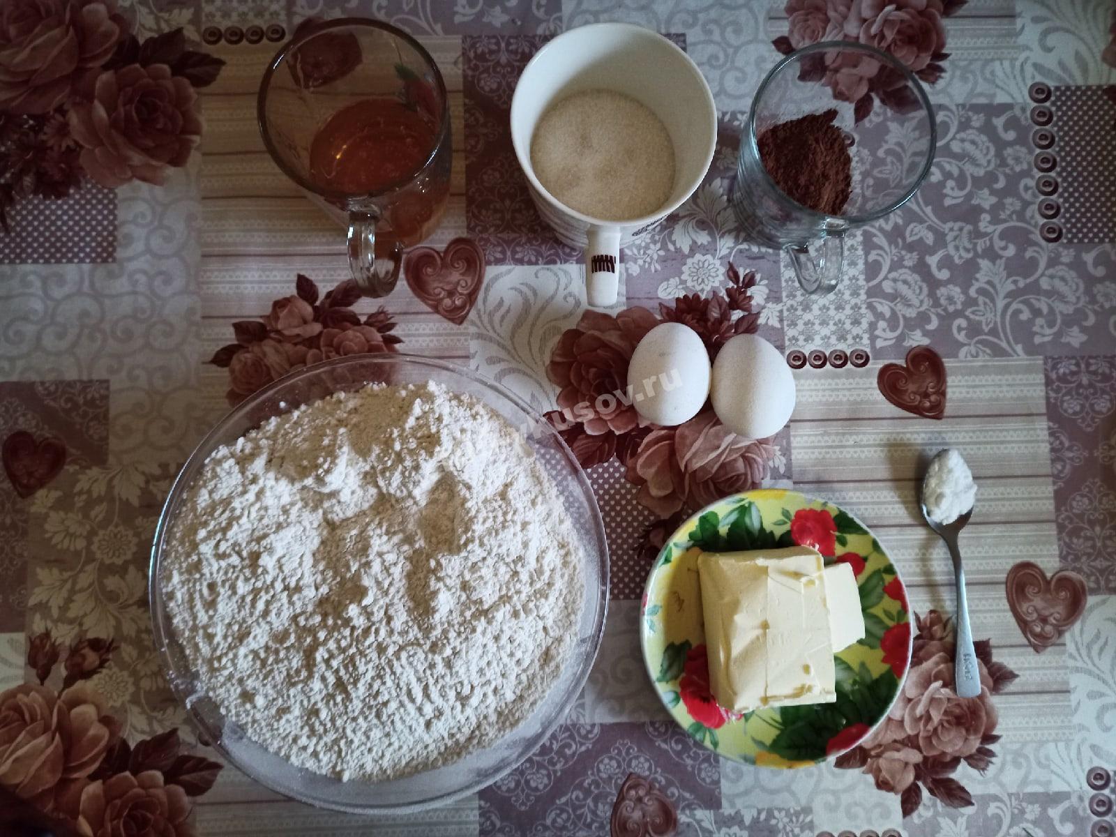 Ингредиенты для торта Спартак