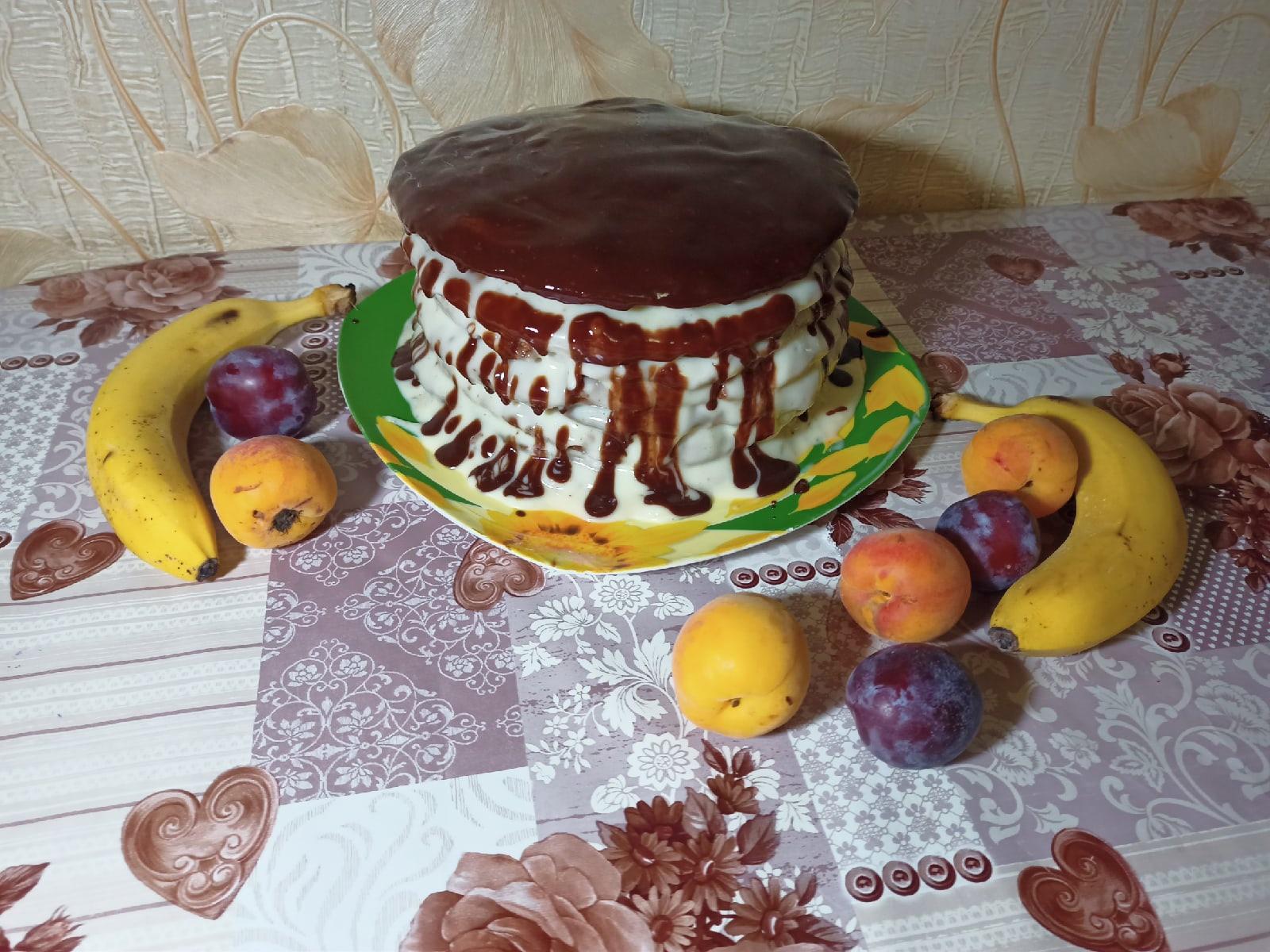 Торт Спартак шоколадный с заварным кремом