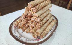 Трубочки вафельные со сгущенкой