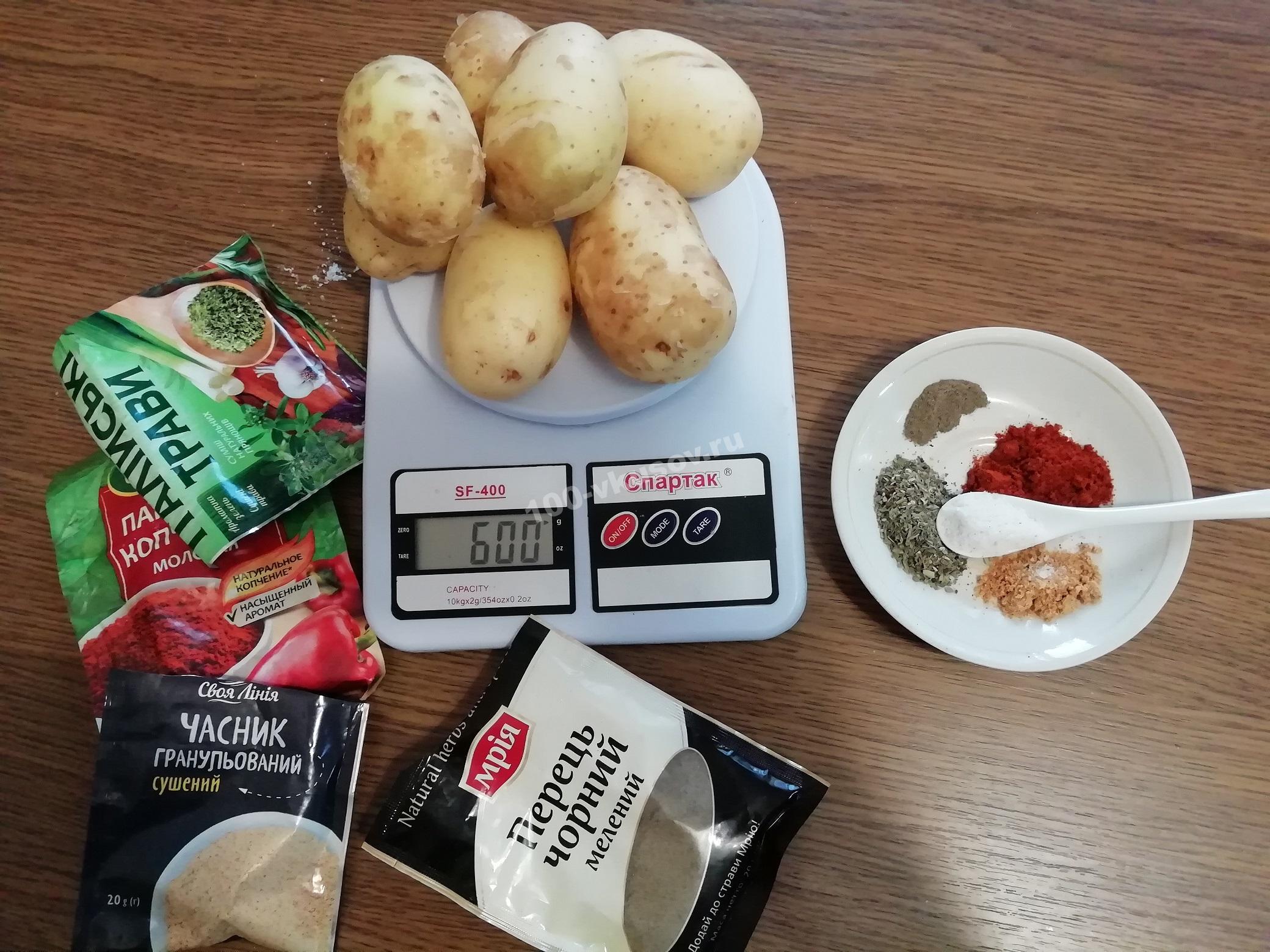 Продукты для картошки по деревенски