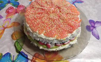 Суши торт салат