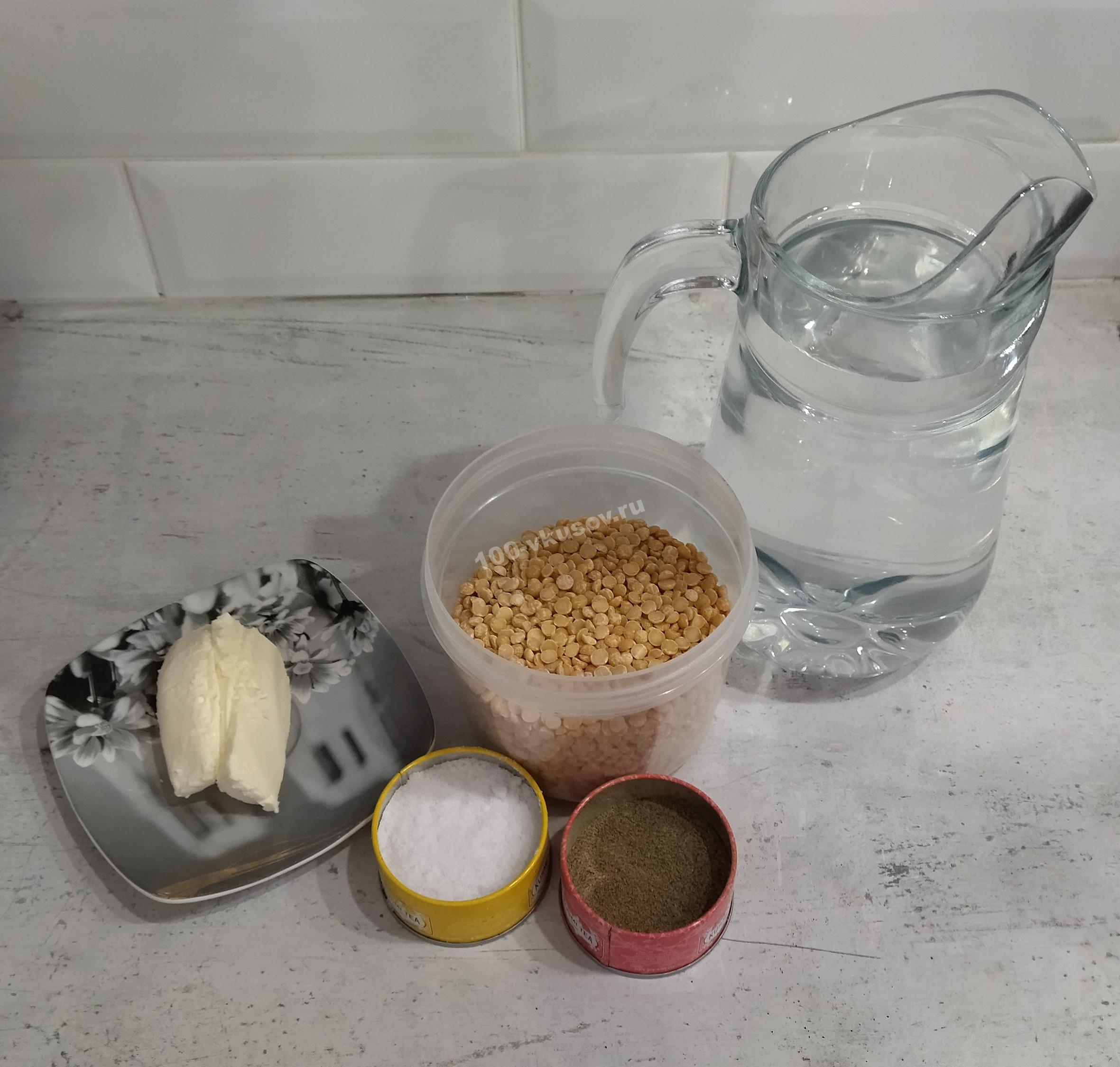 Ингредиенты для горохового пюре