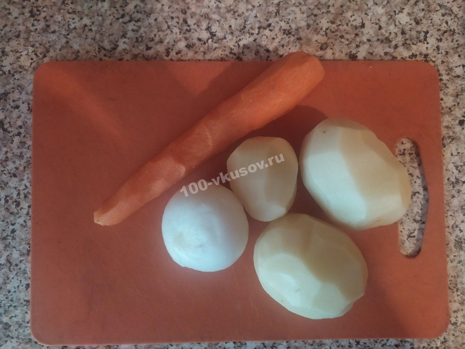Почищенные овощи