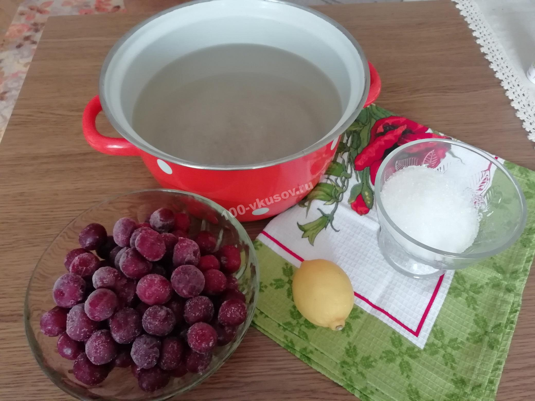 Продукты для вишневого компота