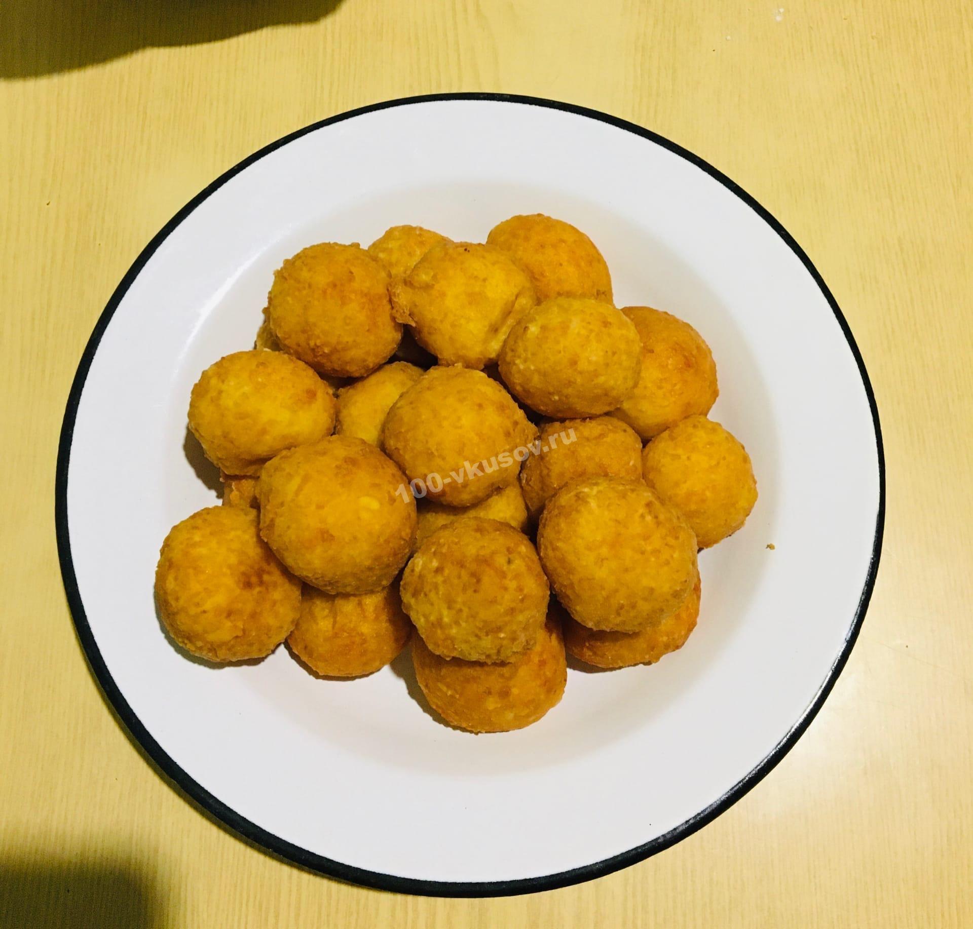 Готовые сырные шарики