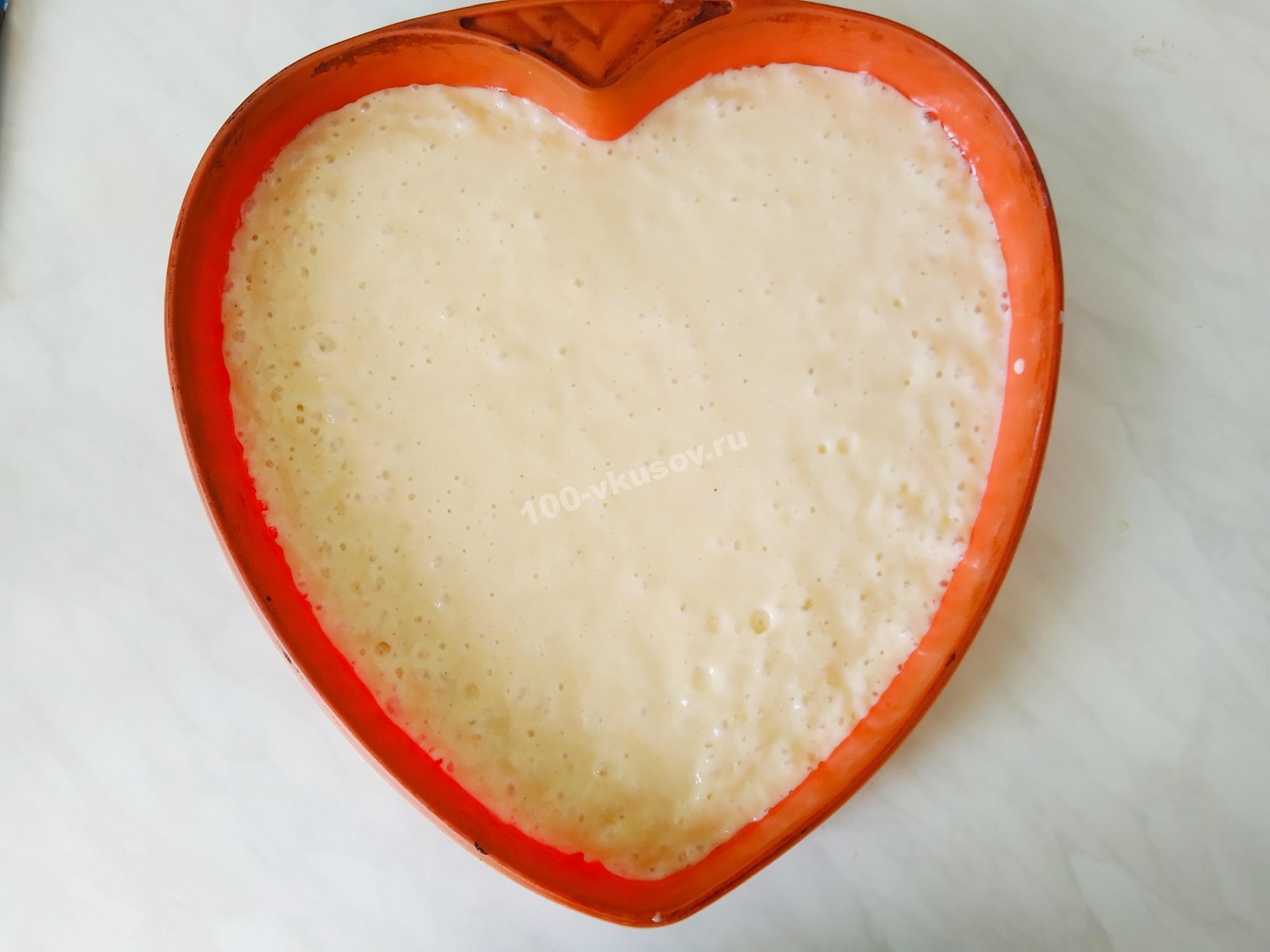 Тесто для белого коржа в форме